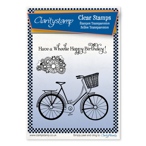 Bicycle & Posy <br/>Unmounted Clear Stamp Set