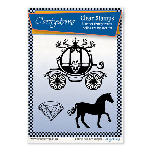 Diamond Horse & Carriage <br/>Unmounted Clear Stamp Set