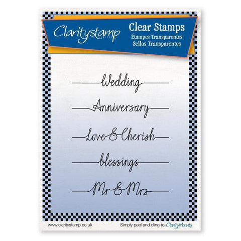 Wedding Line Sentiments Unmounted Clear Stamp Set