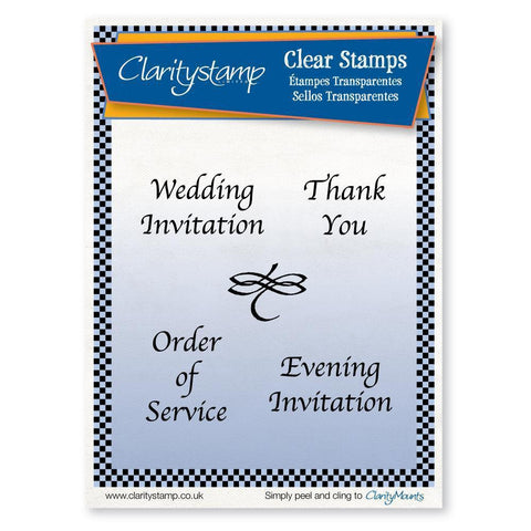Traditional Wedding Stationery <br/>Unmounted Clear Stamp Set