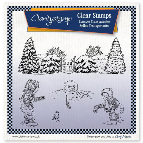 Jayne's Winter Scene - Children <br/>Unmounted Clear Stamp Set