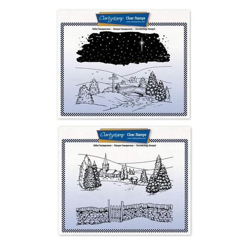 Jayne's New Winter Scenes Duet + MASKS Large Unmounted Clear Stamp Sets