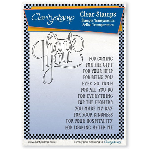 Thank You Sentiments Unmounted Clear Stamp Set