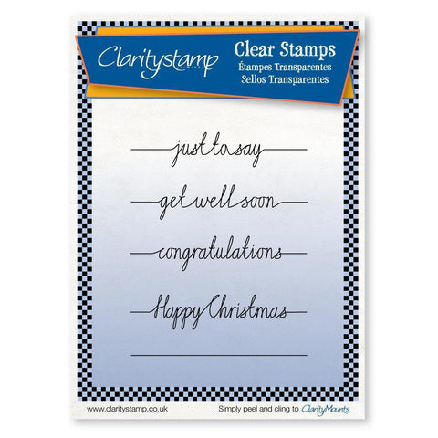 Line Sentiments 2 - Happy Christmas Unmounted Clear Stamp Set