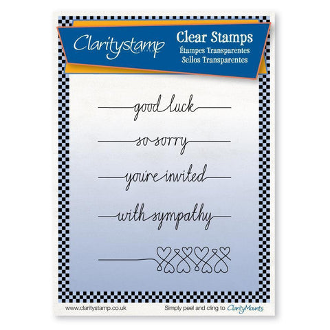 Line Sentiments 3 - Good Luck Unmounted Clear Stamp Set