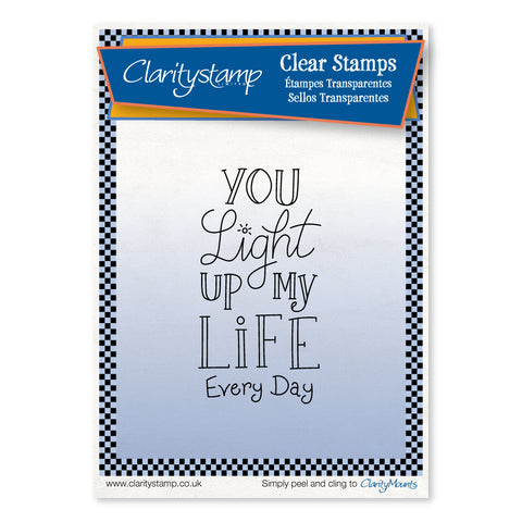 You Light Up My Life <br/>Unmounted Clear Stamp