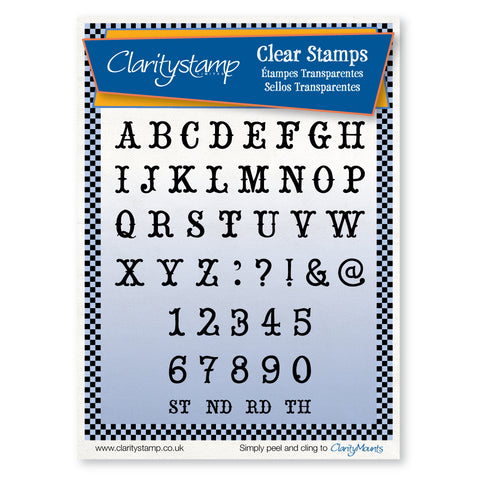 Christmas Alphabet <br/>Unmounted Clear Stamp Set
