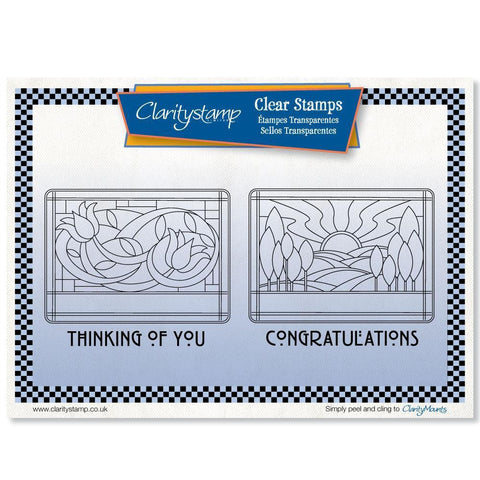 Art Nouveau Congratulations & Thinking of You <br/>Unmounted Clear Stamp Set