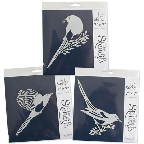 "Magpies Stencils 7"" x 7"" (Set of 3)"