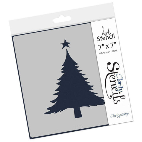 "Christmas Tree Shape Stencil 7"" x 7"""