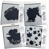 "Countryside 7"" x 7"" Stencil Set <br/>+ FREE Winter Tree Aperture Stencil!"