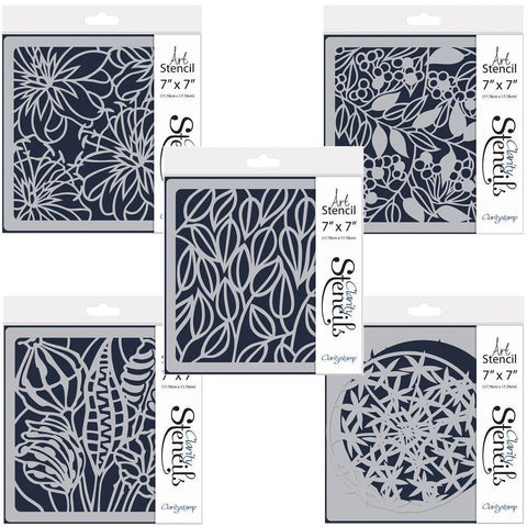 "Pods & Foliage 7"" x 7"" Stencil Set"