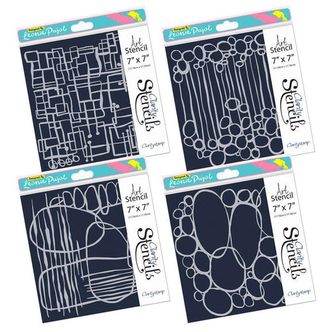 "Leonie's Frameless Shapes Stencil Set 7"" x 7"""