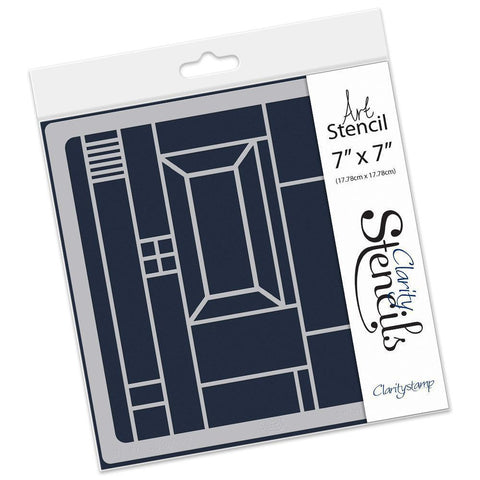 """CLARITY STAMPS 7/"""" x 7/"""" Stencil BOXES STE-PA-00318-77 350 Microns"""