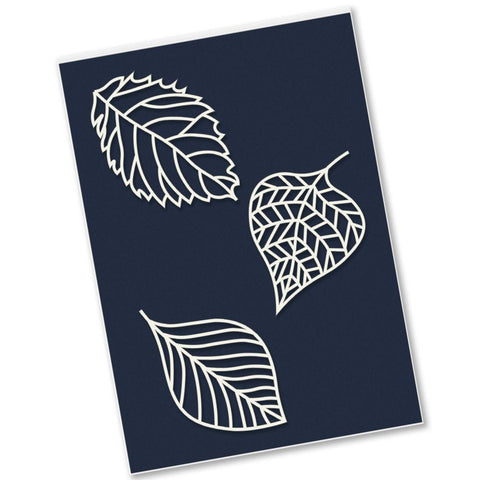 Fossil Leaves Petite Stencils Set
