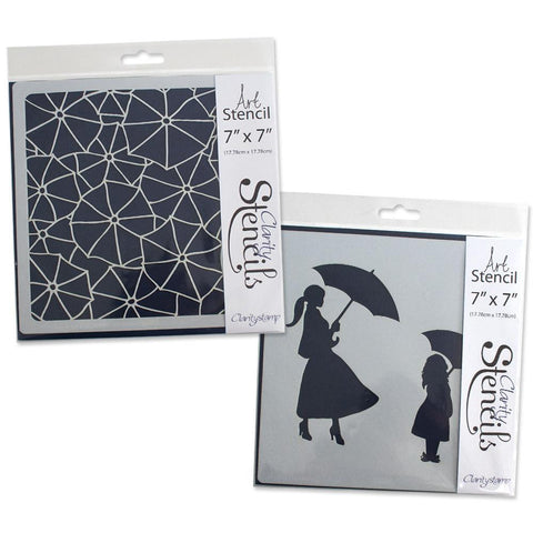 "Umbrella Stencils 7"" x 7"" (Set of 2)"