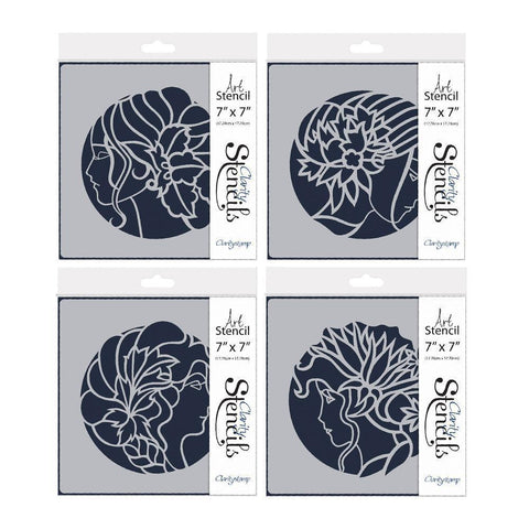 "Cameo Ladies Stencil Set 7"" x 7"" (Set of 4)"