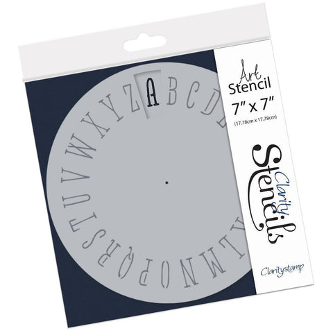 Wheelie Simple Alphabet Stencil 7""