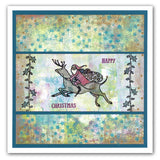 Santa & Star Corners + MASK <br/>Unmounted Clear Stamp Set