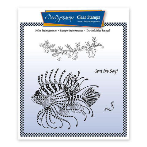 Cherry's Under the Sea - Lion Fish Unmounted Clear Stamp Set