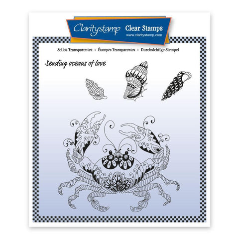 Cherry's Under the Sea - Crab <br/>Unmounted Clear Stamp Set