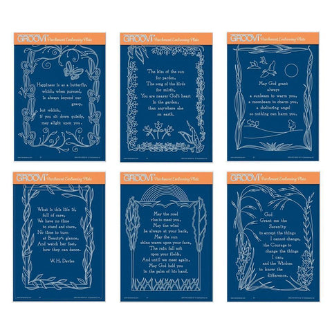 Poetry Set 2 - Happiness A5 Groovi Plates (Set of 6)