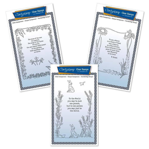 Poetry Trio Set Three - Kiss of the Sun Unmounted Clear Stamp Sets