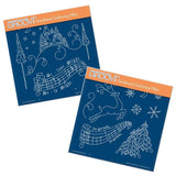 Silent Night & Jingle Bells A5 Square Groovi Plate Set