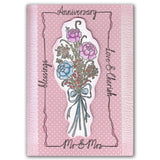 Silk Ribbons Bouquet + MASK <br/>Unmounted Clear Stamp Set