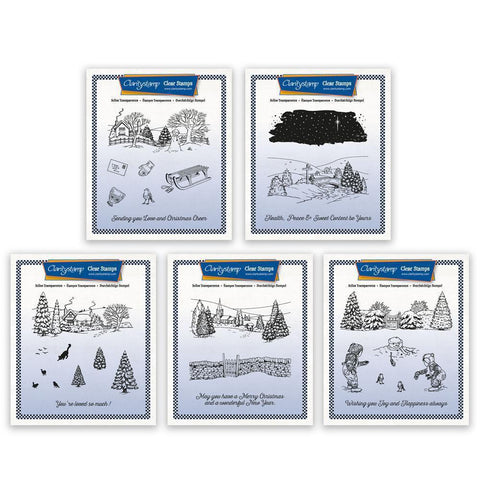 Jayne's Winter Scene A5 Square Stamp Collection