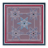 Large Snowflakes <br/>A5 Square Groovi Piercing Grid <br/>(Set GRO-WI-40763-XX)