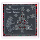 Large Snowflakes Duet <br/>A5 Square Groovi Plate & Grid Set