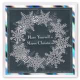 Large Snowflakes <br/>A5 Square Groovi Plate <br/>(Set GRO-WI-40763-XX)
