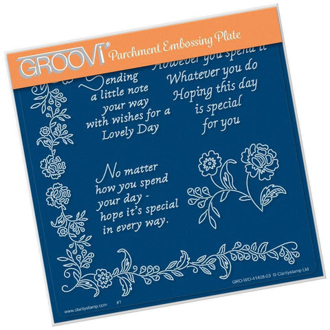Special Day Sentiments <br/>A5 Square Groovi Plate