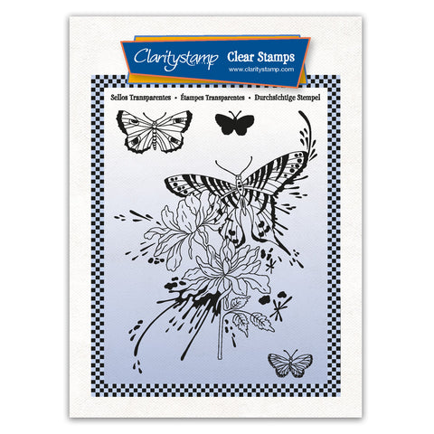 Cherry's Splash Some Colour Complete Montage A6 Stamp & Mask Set