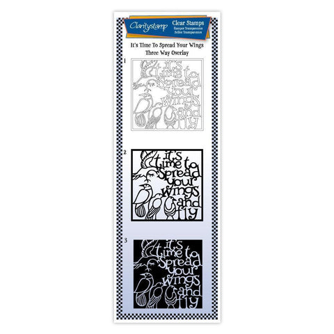 It's Time to Spread Your Wings - Three Way Overlay Unmounted Clear Stamp Set