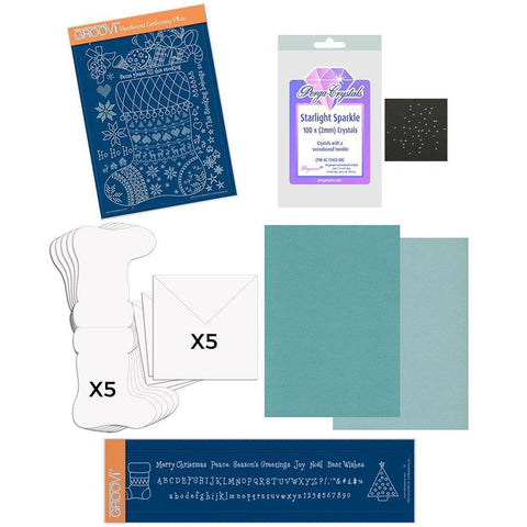 Linda Williams' Stocking Groovi Kit (Teal)