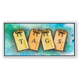 Tags + MASK Unmounted Clear Stamp Set