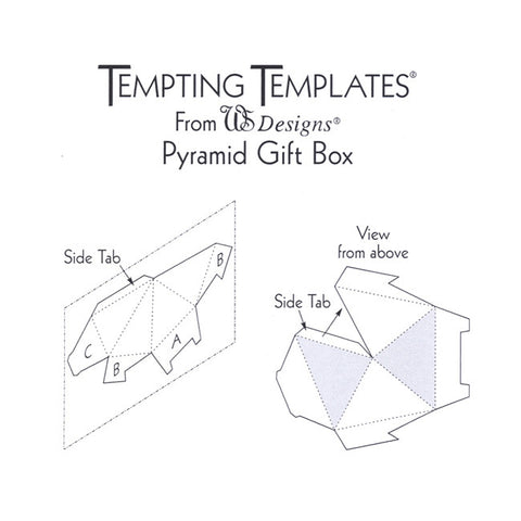 pyramid gift box template claritystamp