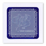 Ribbon Sentiments A5 Square Groovi Plate Set