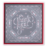Thank You <br/>A5 Square Groovi Plate <br/>(Set GRO-WO-40282-03)