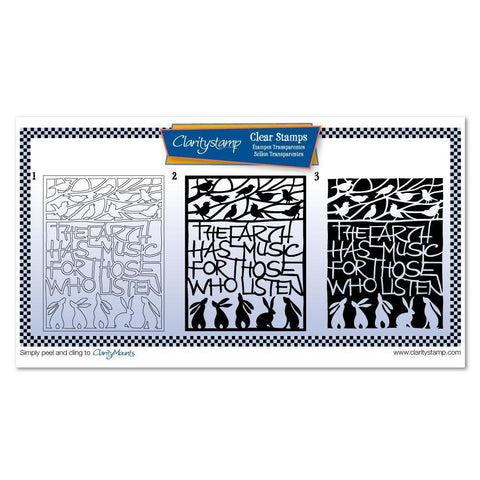 The Earth Has Music Three Way Overlay Unmounted Clear Stamp Set