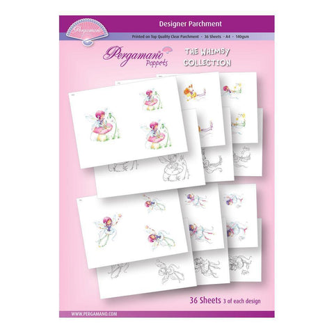 A4 Parchment Poppets - Whimsy Collection - Artwork by Marina Fedotova