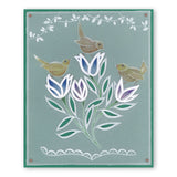 Wrens & Wild Flowers <br/>A5 Square Groovi Plate Set