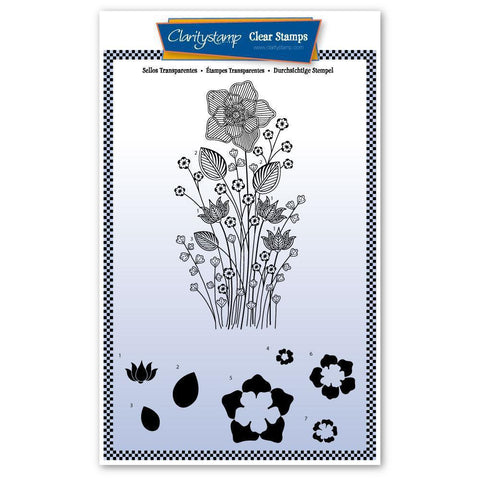 Tina's Daffodil Spray Unmounted Clear Stamp Set