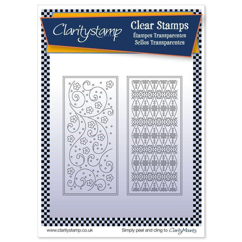 Tina's Floral Layering Rectangles <br/>Unmounted Clear Stamp Set