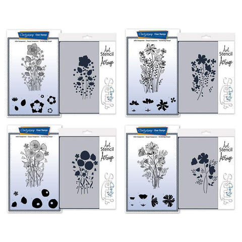 Tina's Flower Spray Stamp & Stencil Collection