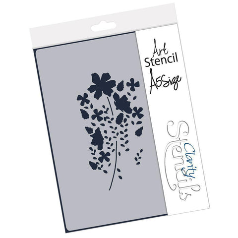 Tina's Meadow Flower Spray Stencil A5