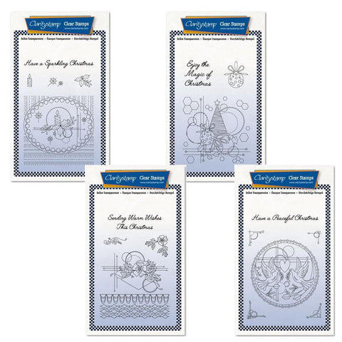 Tina's Christmas Centrepiece Collection Unmounted Clear Stamp Set Bundle