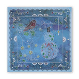 Tina's Christmas Snowman & Robins <br/>A4 Square Groovi Plate